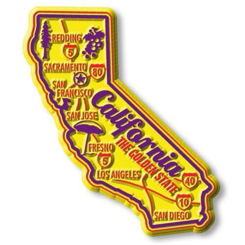 California the Golden State Premium Map Fridge Magnet