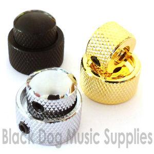 qualita-acciaio-doppio-chitarra-manopola-in-nero-cromato-o-color-oro-volume