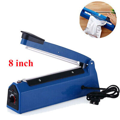 8 Inch Plastic Hand Impulse Sealer Heat Sealing Plastic Poly Bags Closer Machine