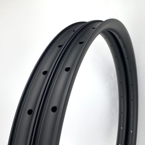 "SALE 37mm Width Carbon Fiber 27.5"" MTB Clincher Bike Rim Tubeless 1PAIR"