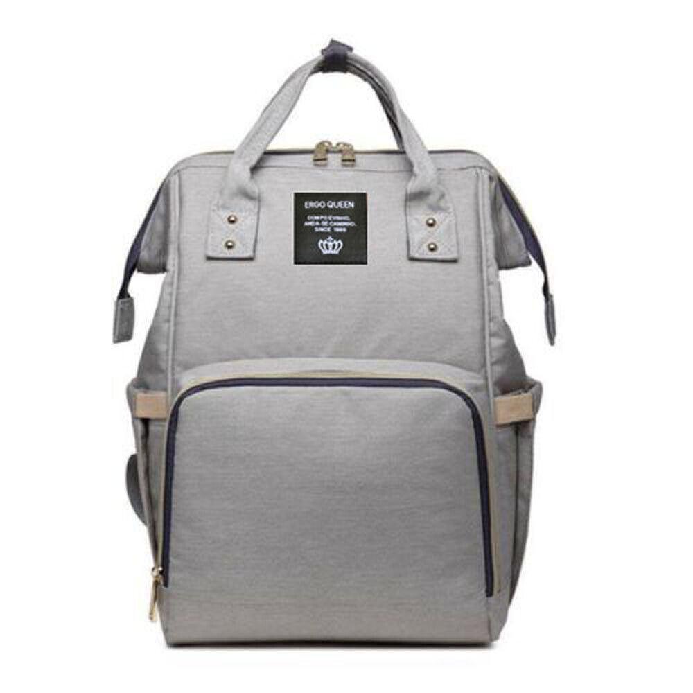 Ergo Diaper Bag Backpack Mummy Maternity Nappy Large Capacity Baby Bag Travel  Light Gray