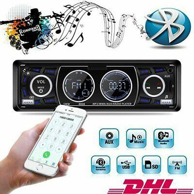 AUTORADIO BLUETOOTH USB SD MP3 MEDIA PLAYER AUX UKW KFZ TUNER 1DIN 2 LCD DISPLAY (Media Player Autoradio Bluetooth)