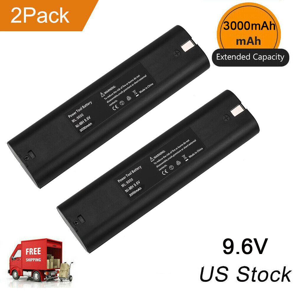 9000 Replace for Makita 9.6V Battery 3.0Ah 9000 9001 9002 90
