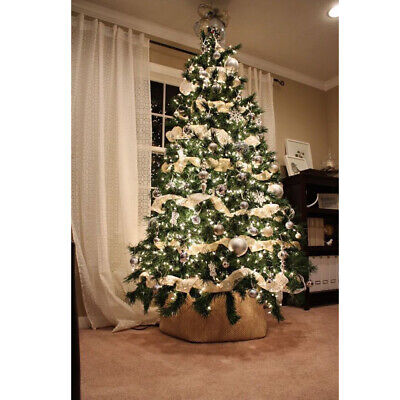7FT Green Christmas Tree Holiday Festival Home Xmas Decor In/Outdoor w/ Stand