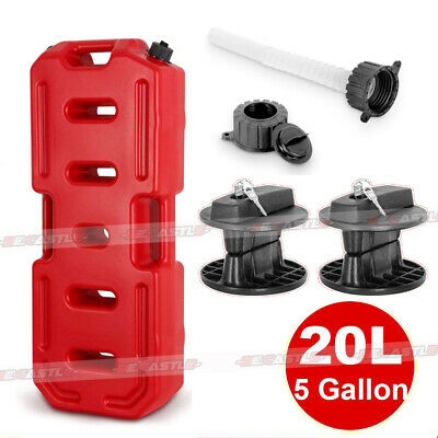 5gallon Jerry Can Emergency Backup Tank Fuel Gas Gasoline W Lock Atv Suv Jeep