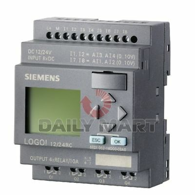 New 6ed1 052-1md00-0ba6 Siemens Plc Logo Logic Extension Module 81p 40p 24v