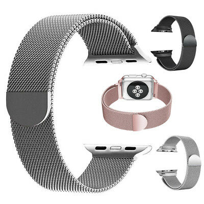 Metal Stainless Milanese Mesh Loop Magnetic Band for Apple Watch 38/42mm -