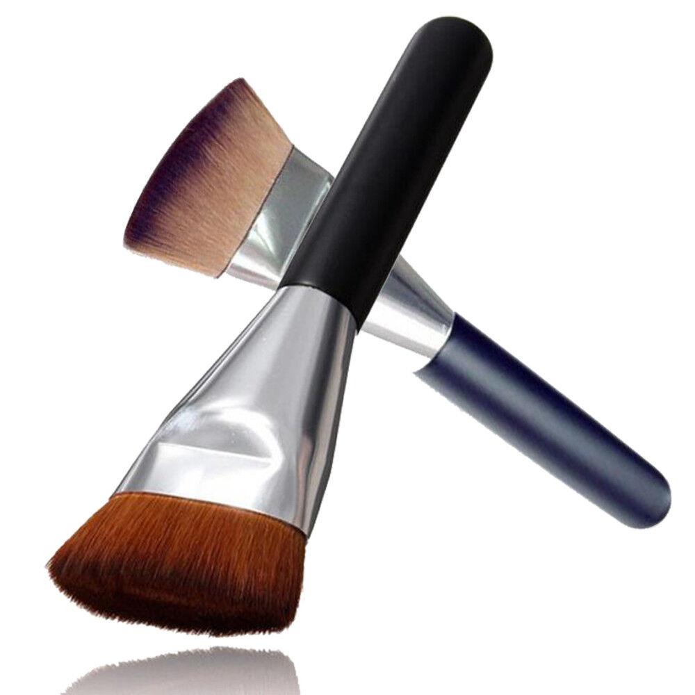 Professional Flat Head Makeup Cosmetic Blush Contour Foundation Brush Tool
