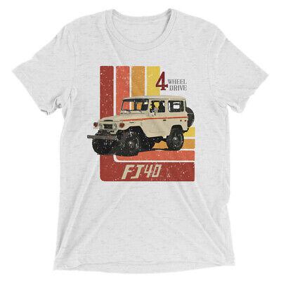 Retro FJ40 Vintage Style Tri-blend Short sleeve t-shirt Fashion Tri Blend T-shirt