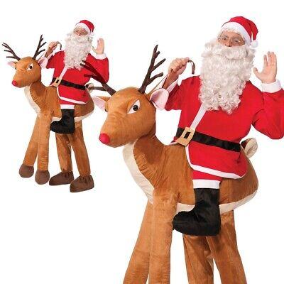 Deluxe Santa Ridin Rentier Kostüm Weihnachten Rudolph Erwachsene Lustiges - Rudolph Rentier Kostüm