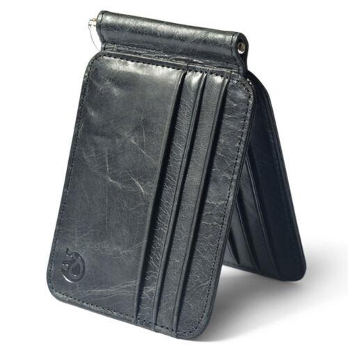 Fashion Men's Leather Bifold Slim Wallet ID Credit Card Money Clip Holder Purse