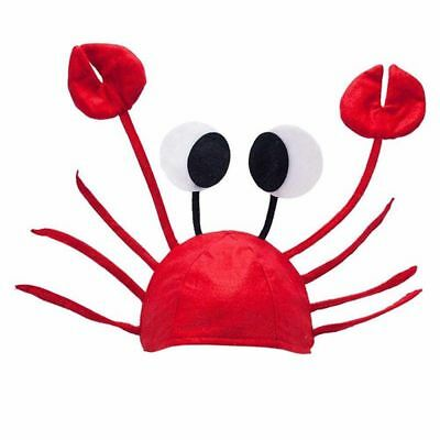 Halloween Adult Cute Red Lovely Costume Crab Hat Lobster Funny - Crab Halloween Costume