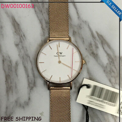 New In Box DANIEL WELLINGTON DW00100163 32mm Women Classic Petite Melrose Watch