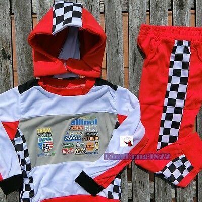 33X Kid Cars Racing Halloween Fancy Dress Costume Lighting McQueen Snood 2-8Yrs](Mcqueen Halloween)
