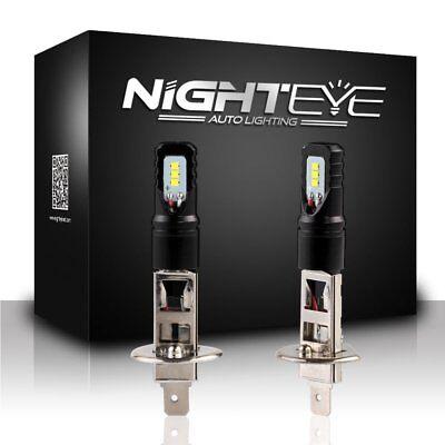 Nighteye H1 160W LED Fog Light Bulbs Car Driving Lamp DRL 6500K White High Power