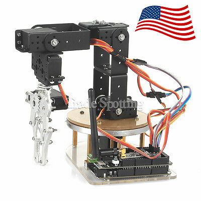 Sainsmart Diy 6 Axi Dof Servo Control Palletizing Robot Arm For Arduino Us Stock