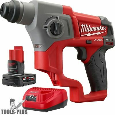 Milwaukee 2416-21xc M12 Fuel 58 Sds Plus Rotary Hammer Kit New