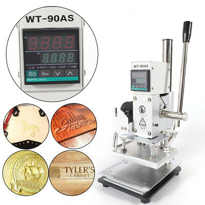 1013cm Manual Digital Hot Foil Stamping Machine Leather Logo Stamp Bronzing Usa
