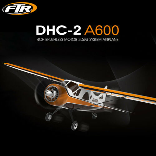 XK DHC-2 A600 4CH 2.4G Brushless Motor 3D6G RC Airplane 6 Axis Glider Aircraft