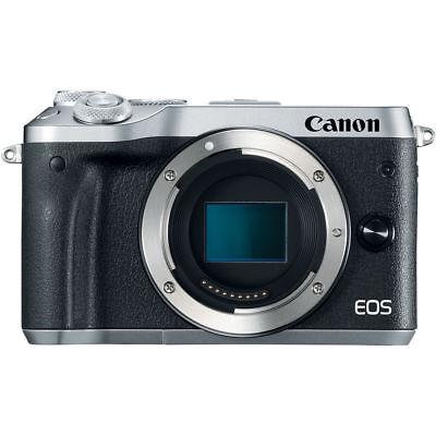 Canon EOS M6 Mirrorless Digital Camera Body Silver - Kit Box QQ