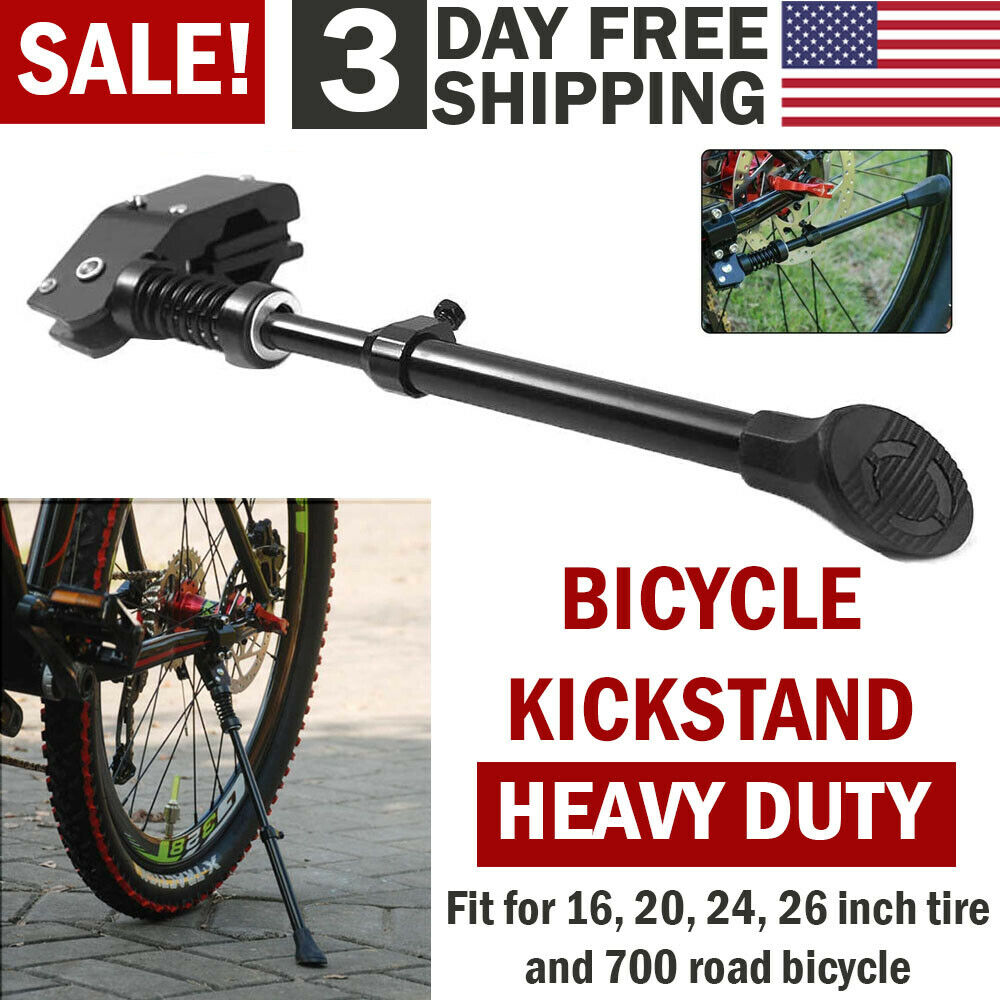 Adjustable Bicycle Kickstand Mountain Bike MTB Aluminum Side Rear Kick Stand New