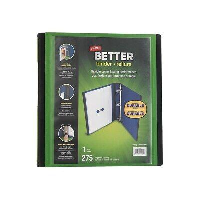 Staples Better 1-Inch D 3-Ring View Binder Green (19063) 827602