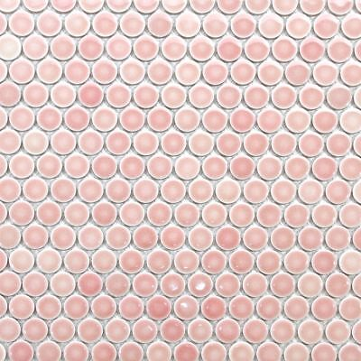 Light Pink Penny Round Mosaic Tile For Wall & Floor (Round Mosaic)