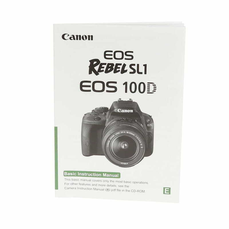 Canon EOS Rebel SL1/EOS 100D Instructions Manual, Printed in Taiwan - EX