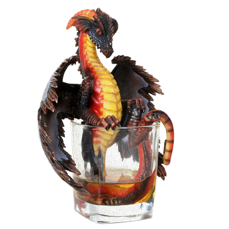 Rum Dragon Figurine by Stanley Morrison New