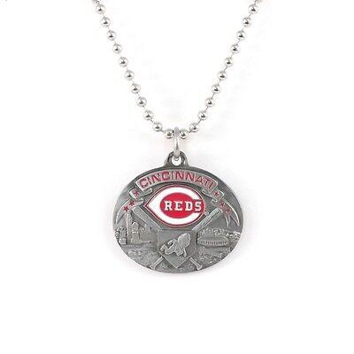 CINCINNATI REDS LARGE PENDANT NECKLACE 21206 new baseball sports jewelry