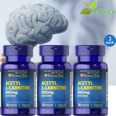 Acetyl L-carnitine Bulk - #1 ACETYL L-CARNITINE FREE FORM 500mg BRAIN ENERGY AMINO ACID SUPPLEMENT 90 CAPS