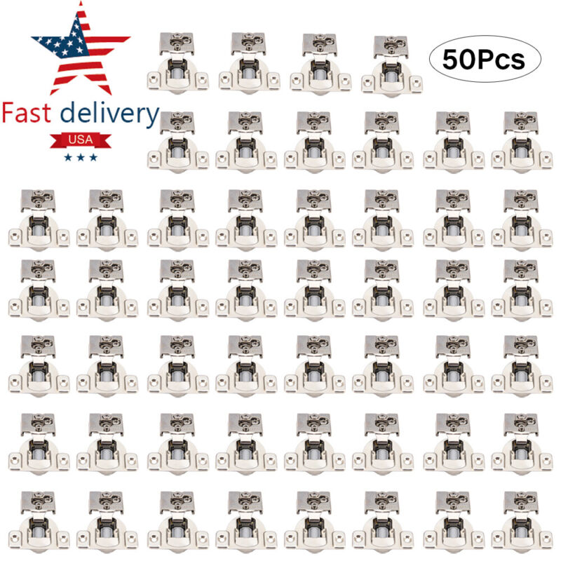 """50pcs 1/2"""" Overlay soft close Face Frame Compact Cabinet Hinge W/ Damping Buffer"""