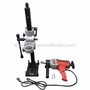 Diamond Core Drill Machine with Stand, Rig, 110Volt, Core bit, Wet or Dry Cut, Handheld. FREE SHIPPING