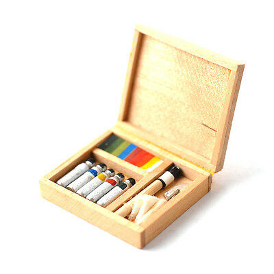 Maler Kiste Utensilien Holz Painting Box 1:12 Art D1244 Puppenstube Dollshouse