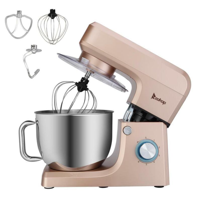 Electric Tilt-Head r Food  Stand Mixers 6 Speed 7.5QT 660W Stainless Steel Bowl