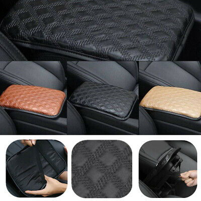 Black Car Armrest Pad Cover Auto Center Console Cushion PU Leather Dust-proof