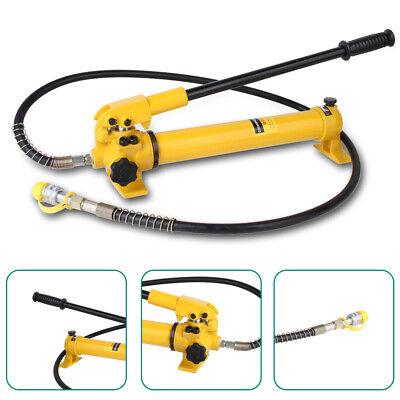 Cp-700 Hydraulic Hand Pump 700bar 38 Npt W 4 Foot Long Hosehose Coupler Usa