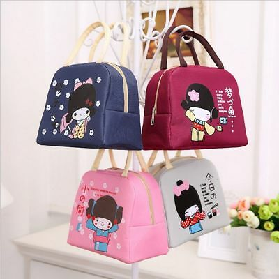 Portable Japanese Insulation Bento Lunch Boxes Thickening Lunch Bag Food Bag