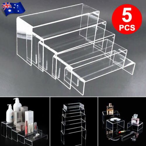 Jewellery - 5PCS Jewellery Display Makeup Super Clear Acrylic Riser Stand Holders Organisers