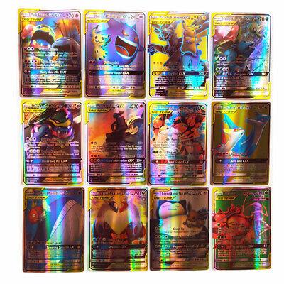Pokemon 120 PCS Cards Flash 30 Team Up+50 Mega+20 Ultra Beast GX+20 Trainer Card