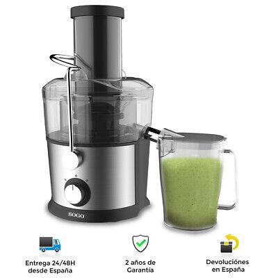 Licuadora Extractor de zumos para Frutas y Verduras 800W - 2 Jarras,...