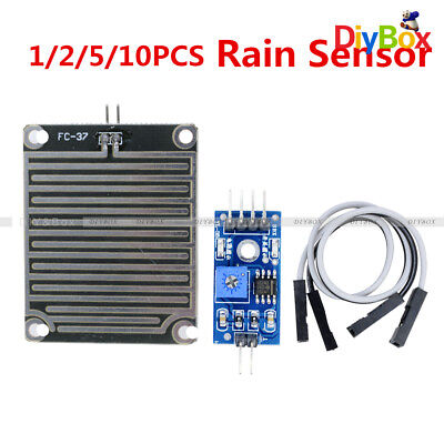 12510pcs Raindrops Rain Detection Sensor Weather Humidity Module For Arduino