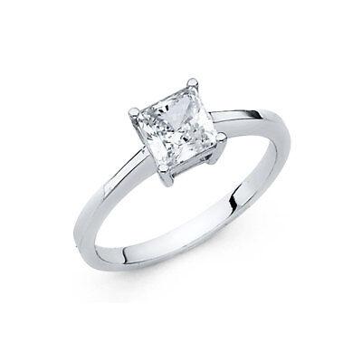 1.5 Ct Princess Cut (1.5 CT Diamond Engagement Ring 14k Solid White Gold Princess Cut)