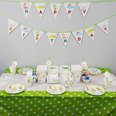 Dinosaur Theme Birthday Party Decoration Tableware Range (Plates Cup Banner etc) - Dinosaur Plates