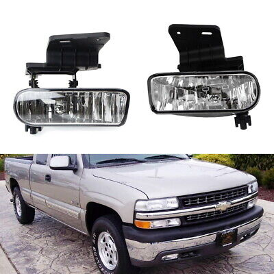 - Complete Clear Lens Fog Lights w/Bracket For Chevy 1500 2500 3500 Suburban Tahoe