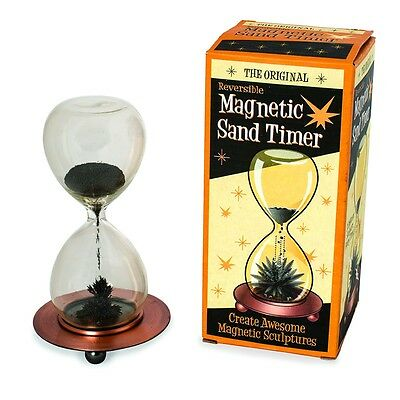 Magnetic Sand Timer Reversible  Hourglass Sculpture Office Gadget Fun Gift