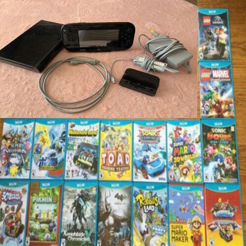 Für Nintendo Wii U 320 GB System Console Lot Bundle 50 Stück SPIEL KOSTENLOS