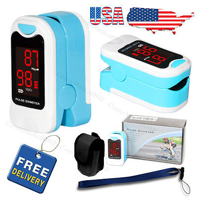 Fingertip Pulse Oximeter Blood Oxygen Meter Spo2 O2 Monitor Pulse Rate Sensor