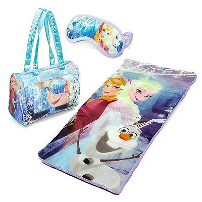 Disney Frozen Slumber Bag Elsa Anna & Olaf Sleeping Bag Sleepover Kids Set 3 pc