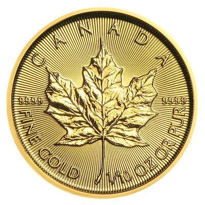 1/10 oz Gold Maple Leaf 2019 - 5 Dollar Kanada Goldmünze 999,9 Stempelglanz